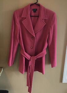 Rafaella Blazer With Self Tie Dusty Rose Size 14 Wool/Nylon/Cashmere