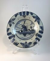 "Delft Blue Ash Tray 5 1/2"" With Windmill"