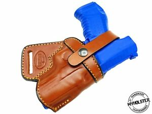 Canik  TP9SF Right Hand SOB Small Of the Back Brown Leather Holster, MyHolster