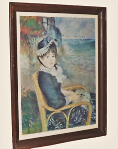 Pierre-Auguste Renoir By The Seashore 1929 Relief Print lithograph wood frame
