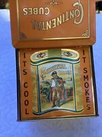 Continental Cubes Pipe Tobacco Tin Hinged Lid Orange Square It's Cool It Smokes