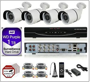 8CH  2MP 1080P 5in1 DVR, 2MP AHD CCTV Security Camera System Kit 1TB WD HDD