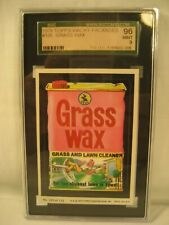 1979 TOPPS WACKY PACKAGES GRASS WAX  SGC 9 GRADED