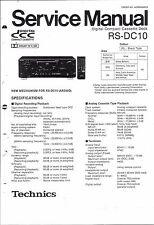 Technics Service Manual für RS-DC 10