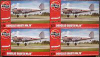 4x AIRFIX A08015 - Douglas DAKOTA MK. IV - DAN Air - 1:72 - Flugzeug Bausatz Kit