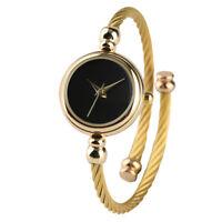 Fashion Women Ladies Quartz Bracelet Wrist Watch Gold Steel Wire Bangle Gifts