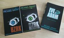 Michael Grant books - BZRK; BZRK Reloaded; Eve & Adam