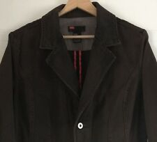 Ladies Womens Diesel Brown Denim Style Jacket Coat Size Large