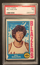 1974 Topps #39 Bill Walton PSA 7 Graded Rookie Card RC Well Centered M55