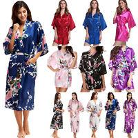 Women's Silk Satin Bridal Wedding Sleepwear Gown Kimono Robe Babydoll Nighdress