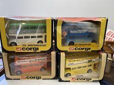 Konvolut 4x Corgi (3x469 + 1x477) Route Master In Box TDK/buzby/old Holborn...