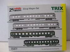 "TRIX MINITRIX T15471 ""Eilzug-Wagenset"" Silberlinge/Eilzugwagen DB  NEU"