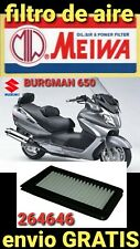 SUZUKI BURGMAN 650 2003/2015 FILTRO AIRE MIW MEIWA S3178  264646