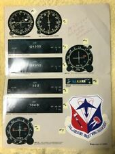 9 Decals Actual Size Aircraft Helicopter Instrument Cockpit Cluster Dial Gauge