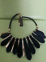 Carolee Black And Gold Necklace