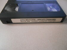 BMW VHS Video Cassette Tape April 30, 2002 APD - Speed Channel #M
