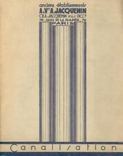 Catalogue Jacquemin canalisation plomberie tarif bâtiment EO 1930
