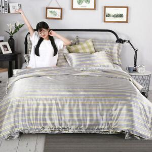 Tencel 4 Four-piece Set Ice Silk Satin Silk Bed Sheet Silk Quilt Cover Bedding