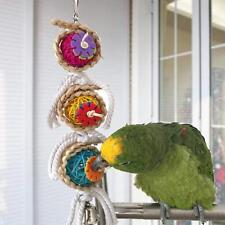 Pet Bird Parrot Climb Toys Bell Swing Cage Hanging Parakeet Bites Play Toys CB