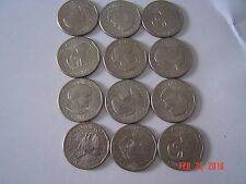 Susan B. Anthony Dollar Coins (12 Total)