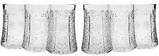 7 Oz. Crystal Cut Beverage Glasses, Vintage Highball Cocktail Glasses, 6-pc Set