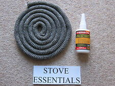 STOVE DOOR ROPE SEAL KIT 14MM (2m) WITH GLUE WOODWARM