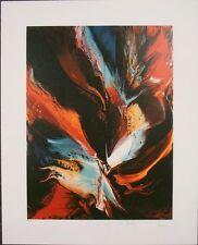 "Leonardo Nierman - H.C.  Lithograph, ""Poems of Fire, Firebird"".   Hand Signed"