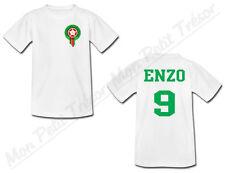 T-shirt Bébé Equipe Nationale Football Maroc avec Prénom Personnalisé