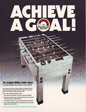 TOURNAMENT SOCCER FOOSBALL SILVER EDITION ORIGINAL NOS ARCADE GAME SALES FLYER
