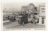 Margate Harbour & Thanet Tram c 1918 Repro Postcard 235a