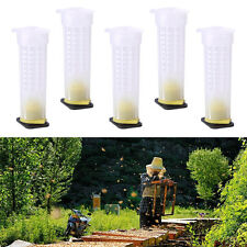 5x Beekeeping Queen Bee Rearing Cell Hair Roller Cages Cup Holder Fixture Tool