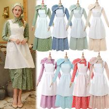 Pioneer Costume Women American Historical Clothing Modest Prairie Colonial Dress