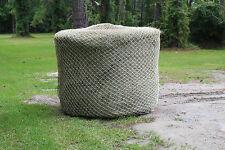 Slow Horse Hay Round Bale Net Feeder Save $$ Eliminates Waste Fits 6' x 6' Bales
