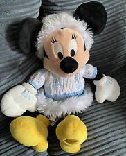 Disneys Minnie Mouse Winter White Sweater Jumper Soft Toy