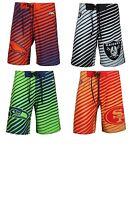 NFL Football Team Logo Poly Stripes Swim Trunks Board Shorts-Pick Your Team!