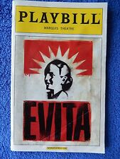 Evita - Marquis Theatre Playbill - Opening Night - April 2012 - Ricky Martin