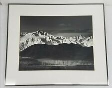 Untitled Unsigned Photo of Mountains & 1 Horse Framed 29x24