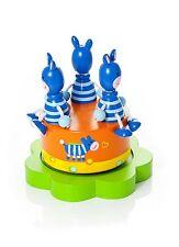 Wooden Safari Zebra Music Box Animal Christening Baby Shower Gift Mousehouse