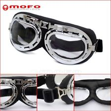 Eyewear Goggles Aviator Pilot Glasses Retro Motorcycle Goggle Clear For Chopper