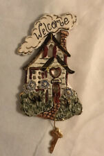 Blue Sky Clayworks 2002 Welcome Home Wall Hanging Heather Goldminc House And Key