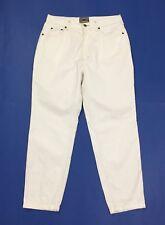 Mixim pantalone donna usato bianco straight w31 tg 45 vita alta boyfrind T3854
