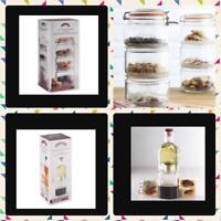Kilner Stackable Storage Jar & Bottles - Set of 3 Space Saving Glass Jars Gift