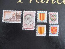 timbre 1955  france  Neuf * avec charnière   trace 1041 1042 1043 1045 1046 1047