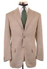 Corneliani Gray Herringbone Check Raw Slubby Silk Wool Sport Coat Jacket 42 R