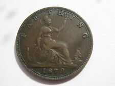 1879 Queen Victoria bun head Farthing coin (5)