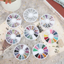 Nail Art Decorate Nail drill mixed with flat colored rhinestones Decorations