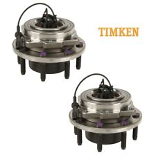 For Ford F-250 4WD Set of 2 Front Wheel Bearings & Hub Assemblies Timken