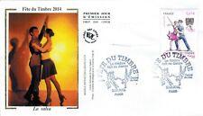 2014-Fdc.Enveloppe soie 1°jour-Fête du timbre-La Salsa-Timbres-Yv.F4904