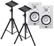Yamaha HS5W Pair W/ Heavy Duty Speaker Tripods **NEW**