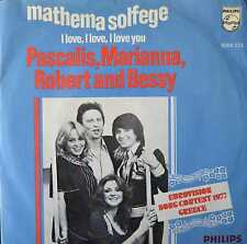 "Pascalis, Marianna, robert and Bessy-mathématiques solfege - 7"" singles 1979-ko701"